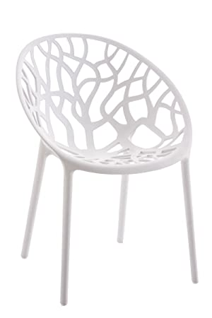 Moderner Stapelstuhl Aus Kunststoff SIKALO Designer Stuhl In Weiss Fur Den Innen Und
