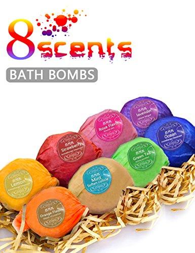 BMK-Bath-Bombs-Gift-Set-Handmade-Natural-Organic-Essential-Oil-Lush-Spa-Bomb-Luxury-Bath-Fizzies-Gift-Ideas-Kit-for-Women-Mom-Girls-Kids-Pack-of-8