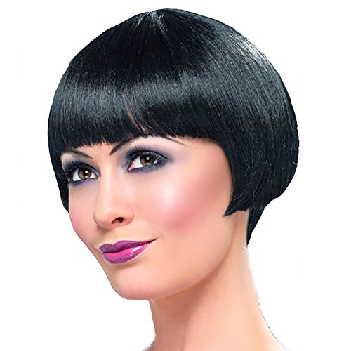 MIEFAN WIG Black Short Straight Hair Bob Wig Pelucas De Cabello Natural Synthetic Halloween Party Wigs for Women (1b#)