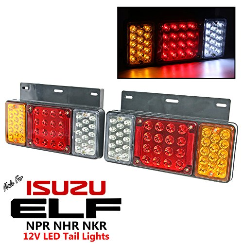 Price comparison product image 1 Pair Left + Right 12V LED Rear Tail Light Fit Isuzu Elf Truck NPR NKR NHR NLR 84