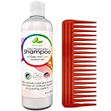 Color Preservation Shampoo for Graying & Color Treated Hair with Comb Gift Set – Sulfate Free Natural Treatment w/ Coconut Oil for Men, Women & Teens