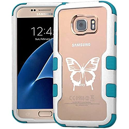 Galaxy S7 Case Butterfly White, Extra Shock-Absorb Clear back panel + Engineered TPU bumper 3 layer protection Sales