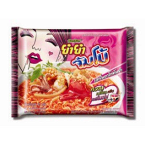 Thai Food Yumyum Instant Dried Noodles Jumbo Yentafo Tom Yum (Pack of 6) by Yum