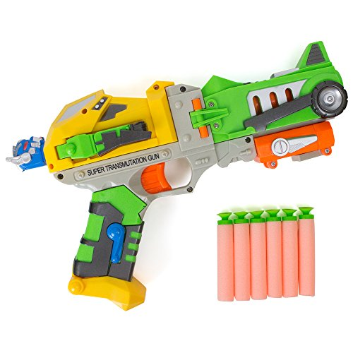 [Gun Dart Pro Blaster - Foam Darts - Kids Action Robot Figure] (Transformer Costumes That Transforms)