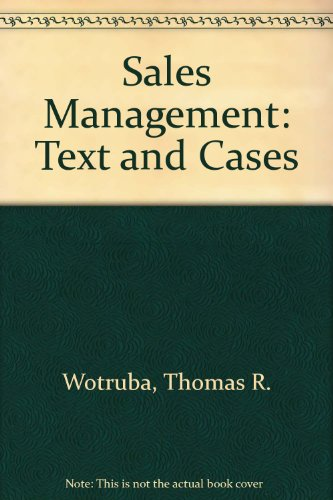 Sales Management: Text and Cases
