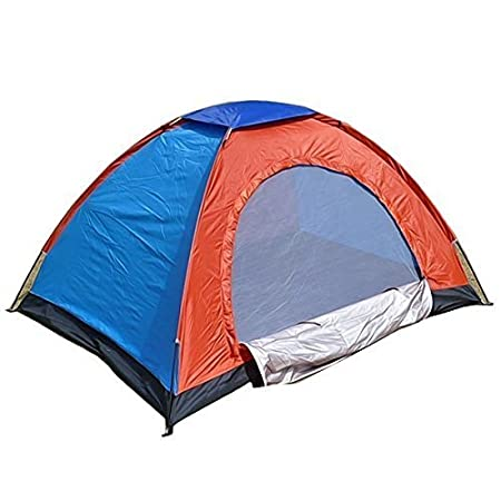4tens 6 Person Automatic Hydraulic Family Tents, Waterproof Backpacking Tents for Outdoor Sports Camping Hiking Ultralight with Zippered Door and Carrying Bag Multi Colour (1 Piece)