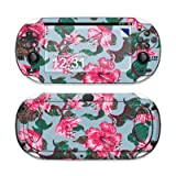 Vintage Hibiscus Design Protective Decal Skin Sticker (Matte Satin Coating) for Sony Playstation PS Vita Handheld
