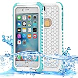 Dailylux iPhone 6 Plus Case, iPhone 6s Plus Waterproof Case,Normal or Underwater Dual-Use Protective Cover for iPhone 6 Plus/6s Plus, Dustproof Shockproof Case for Boating/Hiking/Swimming-Blue+White