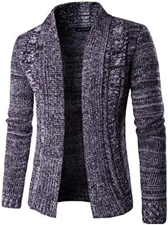 (ベストギフト) Bestgift メンズ ウール スタンド襟 ニット カーディガン セーター パープル XXL
