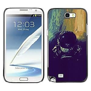 Paccase / SLIM PC / Aliminium Casa Carcasa Funda Case Cover - devushka kosmos shlem - Samsung Note 2 N7100