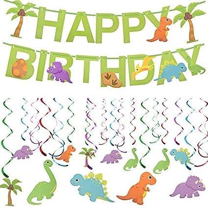 Amazon.com: Dinosaurio suministros de fiesta, 31 piezas para ...
