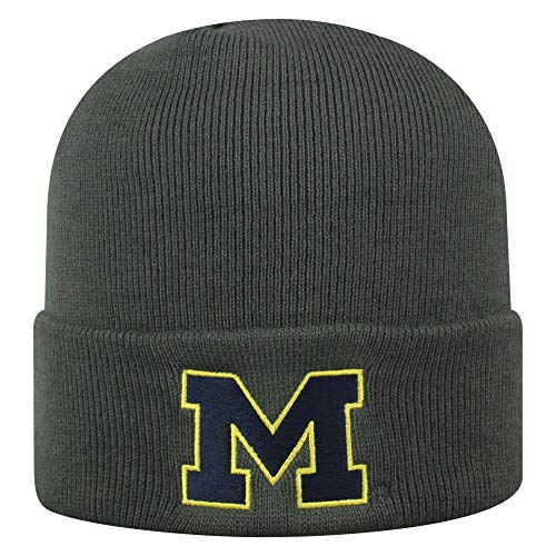 - Top of the World NCAA Michigan Wolverines Men's Winter Knit Cuffed Charcoal Hat, Charcoal