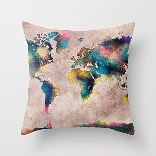 Wecye Funda de Almohada de Lona de algodón con diseño de ...
