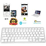 BROLAVIYA ® Ultra-Slim Bluetooth Keyboard for Apple iPad Pro/Air 3/2/1, iPad Mini 4/3/2/1,iPhone X/8/7/6/6S and Other Bluetooth Enabled Android Devices.(Color May Vay by Iceberg Makers