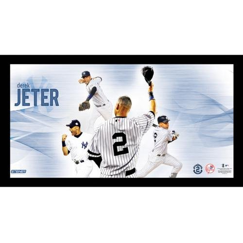 Derek Jeter New York Yankees (Career Highlight Collage) Framed 10x20 Photo Frame - Steiner