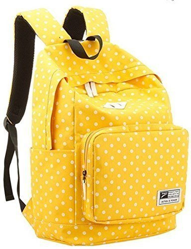 Sealike Lightweight Casual Daypack Backpack for College Bookbag for Women Girls School Bags Yellow