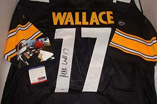 Mike Wallace Autographed Signed Autograph Pittsburgh Steelers Jersey - PSA/DNA - Pro Bowl Wr