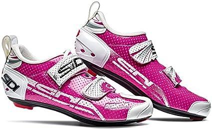 Sidi - Oferta Zapatillas Mujer Carretera T4 Air Carbon Blanco Rosa T-40: Amazon.es: Deportes y aire libre