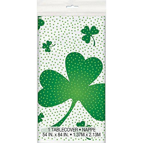 Lucky Shamrock St. Patrick's Day Plastic Tablecloth, 84