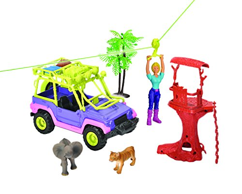- Wild Republic 18707 E-Team X Zipline Adventure Playset, Animal, Vehicle, Zip Line, Tools, Action Figure, Gifts for Kids