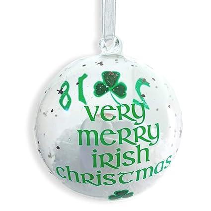 Irish Christmas.Amazon Com Banberry Designs 2018 Irish Christmas Glass