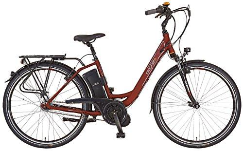 Prophete Damen Elektrofahrrad E-Bike Alu-City 26 Zoll E-Novation Navigator 6.6, dunkelrot matt, 46, 52466-0111