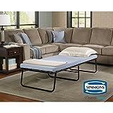 Simmons Foldaway Folding Bed Cot with Memory Foam Mattress (Twin)