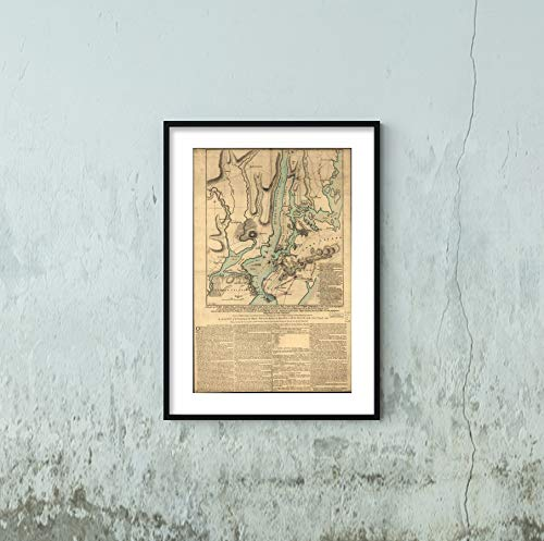 1776 Map Title: Map of New York Island, with Part of Long Island, Staten Island & East New Jersey, w