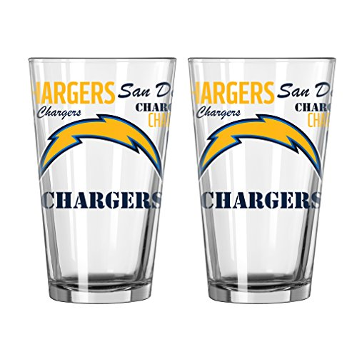 - NFL San Diego Chargers Spirit Pint, 16-ounce, 2-Pack