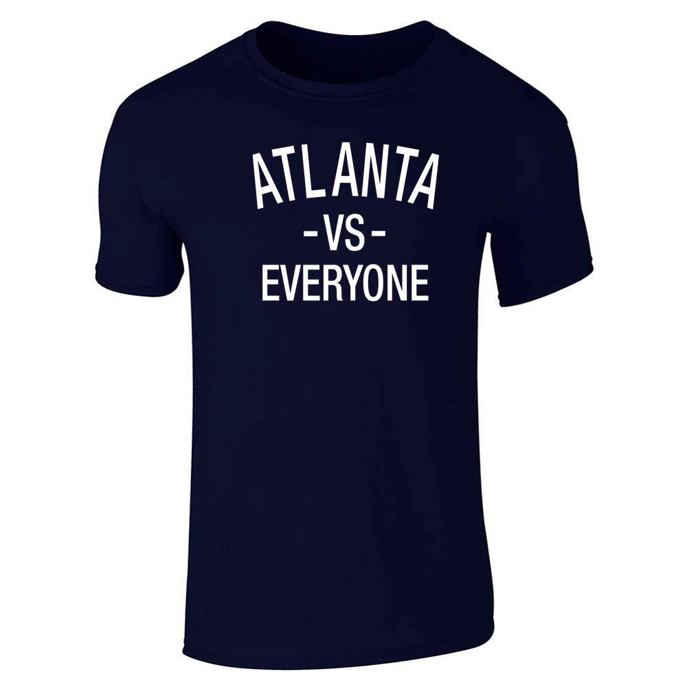 Pop Threads Atlanta vs Everyone Sports Fan Short Sleeve T-Shirt