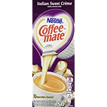 Coffee-mate Italian Sweet Creme Creamer - Rich Gelato Italian Creme Flavor - 50/box