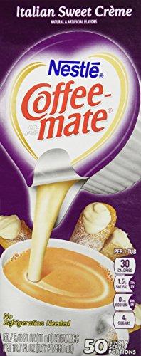(Coffee-mate Italian Sweet Creme Creamer - Rich Gelato Italian Creme Flavor - 50/box)