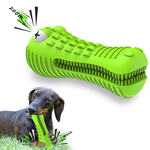 Dog Toys for Aggressive Chewers Large Medium Breed Dog Chew Toys Dog Toothbrush Nearly Indestructible Squeaky…