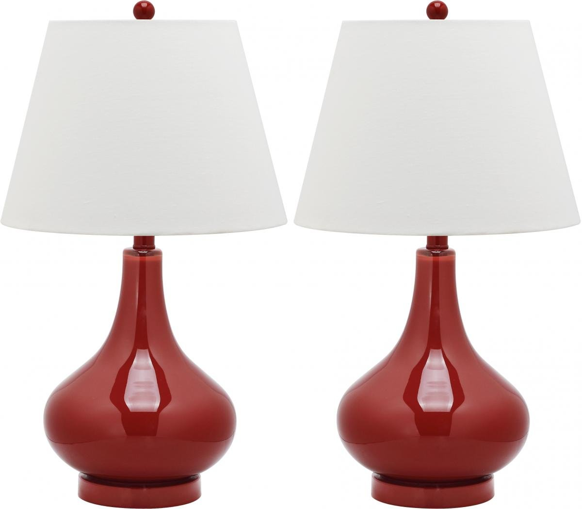 Amazoncom Safavieh Lighting Collection Amy Gourd Glass Table - Red table lamps for bedroom