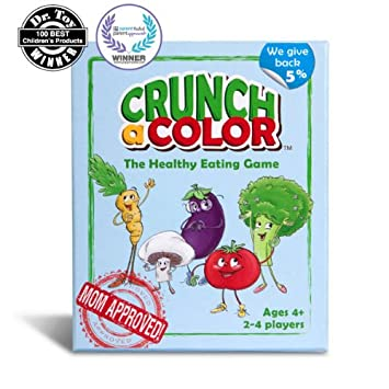 Amazon.com: Crunch a Color: The Healthy Eating Game for Kids: Toys ...
