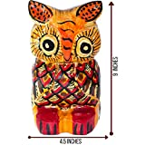 Home Decor and Room Design Unique & Hand Carved Owl Wooden Sculpture from Guatemala