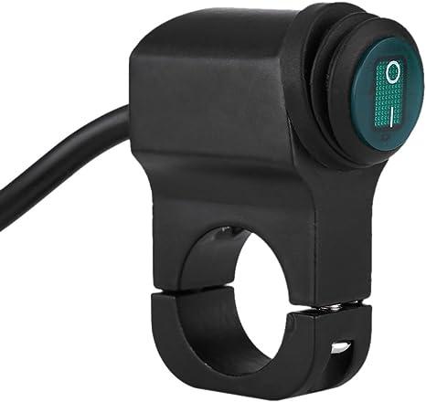 Interrupteur Guidon Moto Contacteur On//Off Bouton Etanche Universel 12v pour Phare Commutateur Brouillard Spot Light Lamp