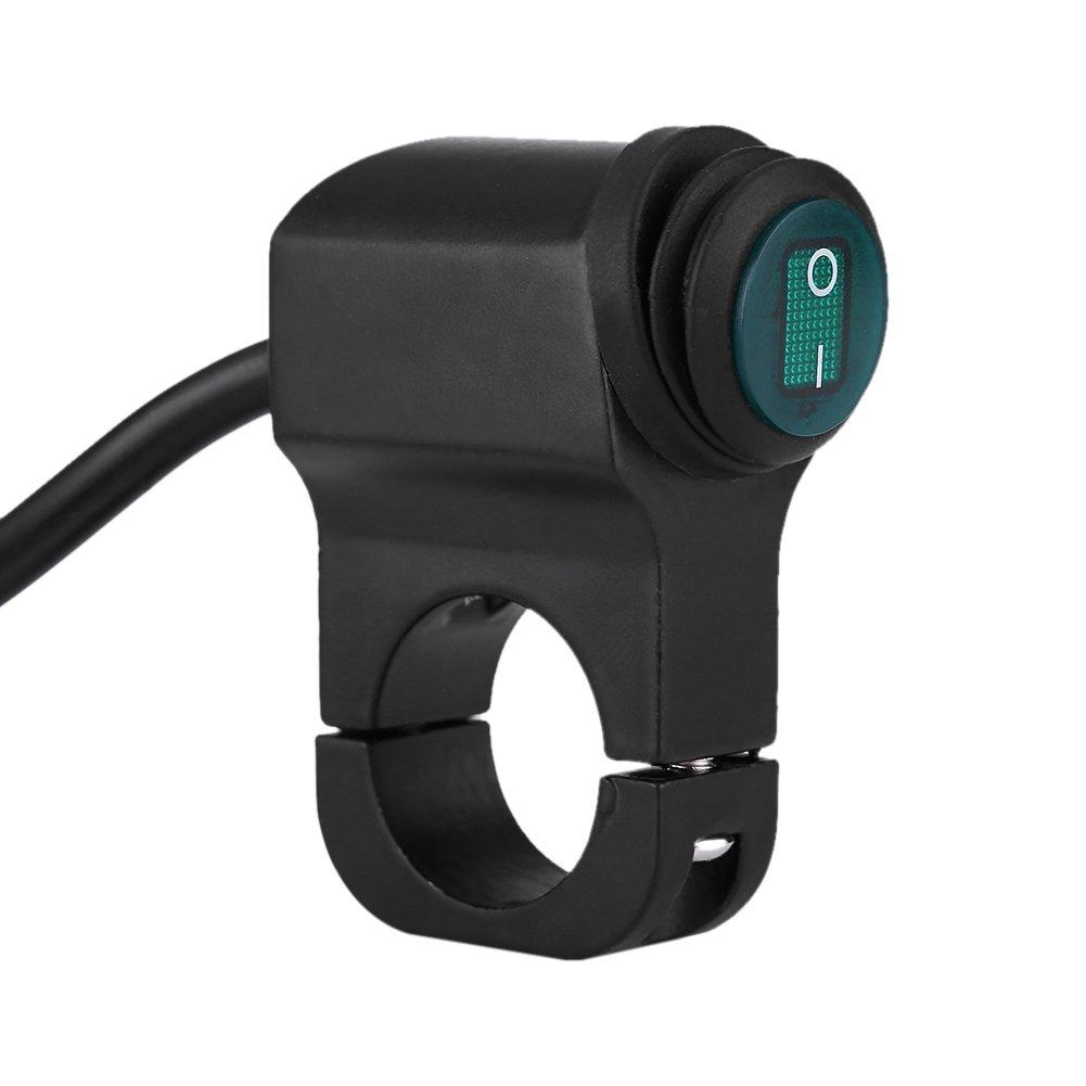 Cuque 22mm 12 V Phare Interrupteur Moto Universel /Étanche en Alliage dAluminium Interrupteur de Phare pour Moto