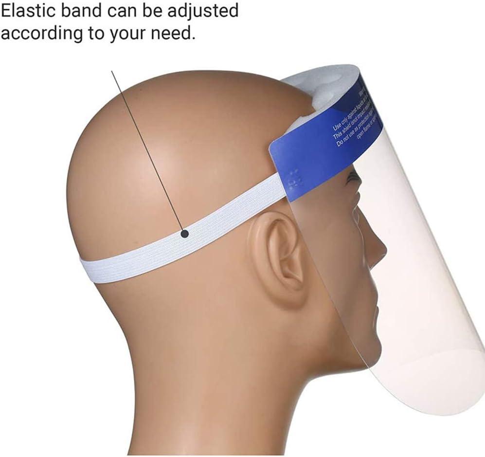Gnohnay 10 PCS Protectores Faciales de Seguridad Pet Mascarilla de Proteccion Cubierta Transparente Anti-vaho Anti-UV Visor para Laboratorio//Cocina//al Aire Libre