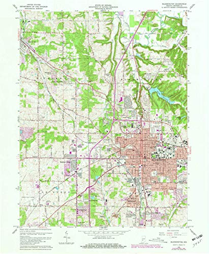 YellowMaps Bloomington in topo map, 1:24000 Scale, 7.5 X 7.5 Minute, Historical, 1966, Updated 1981, 26.9 x 22.1 in - ()