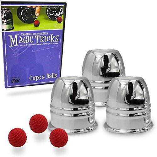 [Amazing Easy To Learn Magic Tricks- Cups & Balls Combo] (Magic Ball 1)