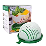 JolyJoy Salad Cutter Bowl, FDA Approved, 60 Second Fast Salad Serve, Quick Chop Salad Maker, Fruit/Vegetable Easy Slicer & Safe Chopper, Upgraded Family Size