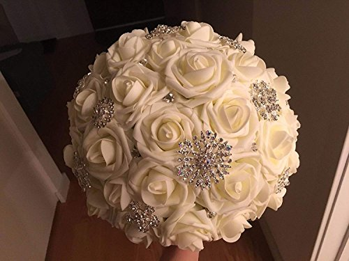 Lmeison-Artificial-Flower-Rose-50pcs-Ivory-Real-Looking-Artificial-Roses-wStem-for-Bridal-Wedding-Bouquets-Centerpieces-Baby-Shower-DIY-Party-Home-Decor-Ivory