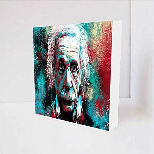Quadro Decorativo - Albert Einstein Painting - Tag 16x16