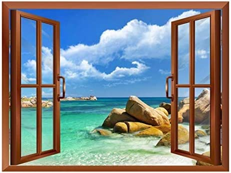 Tropical Landscape Seychelles Paradise Removable Wall Sticker/Wall Mural - 24