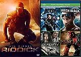 Thrill Ride Sci-Fi Action Vin Diesel Riddick + Serenity / Hellboy Golden Army / Pitch Black Chronicles of Riddick / Doom DVD Movie 5 Film Favorites