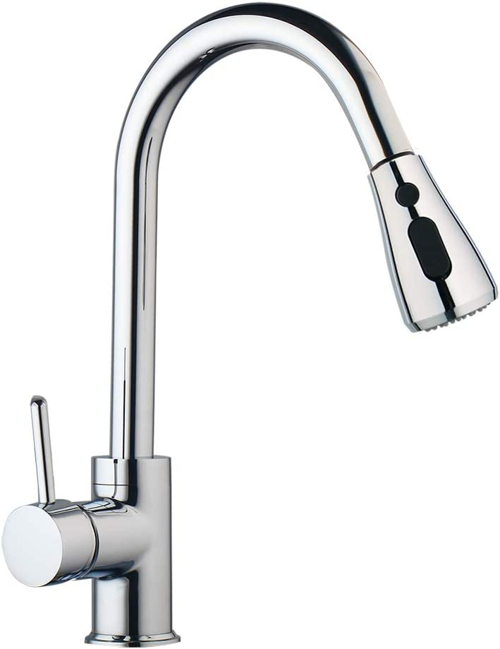 Peerless Kitchen Faucet 3 Way 14 Copper 1 Handle With Pull Down Sprayer Pullout Kitchen Faucets Chrome Amazon Com