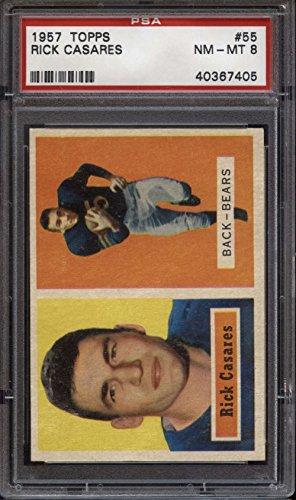 1957 Football (Football NFL 1957 Topps #55 Rick Casares PSA 8 NM-Mint Bears)
