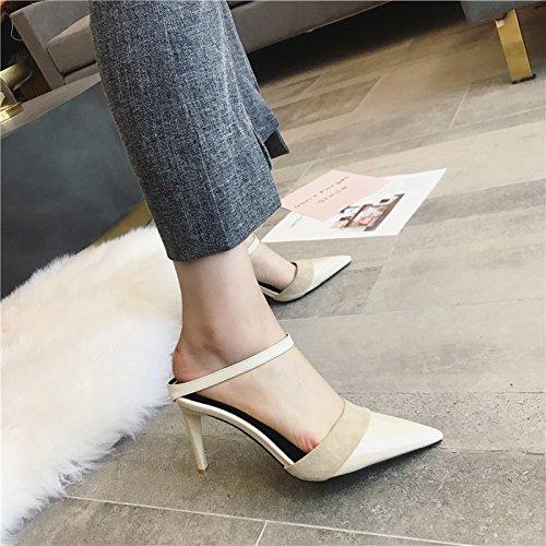 Rétro Ajunr con Casual Donna con albicocca tacchi 8cm Moda 38 scarpe Sandali Da alti Alla i trentanove Fine scarpe xqqrYgRw