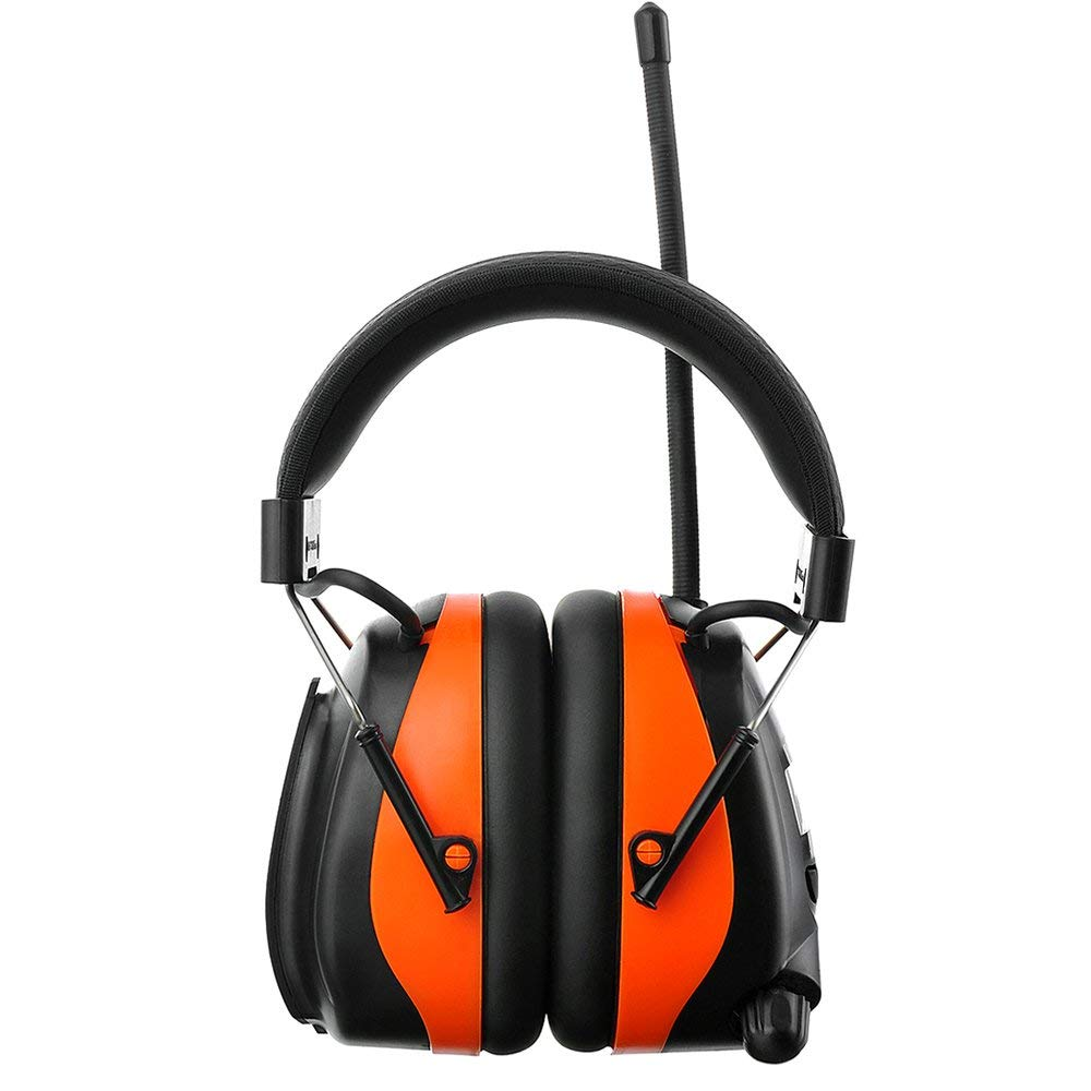 PROTEAR Bluetooth AM FM Radio Noise Reduction Safety Ear Muffs with Rechargeable Lithium Battery - Adjustable NRR 25dB Electronic Ear Hearing Protection lawn mower work headphones,with a Earmuff Clip by PROTEAR (Image #3)